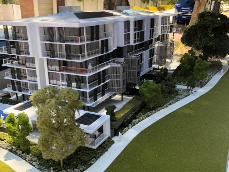 Scale model Mabel Park Apartments