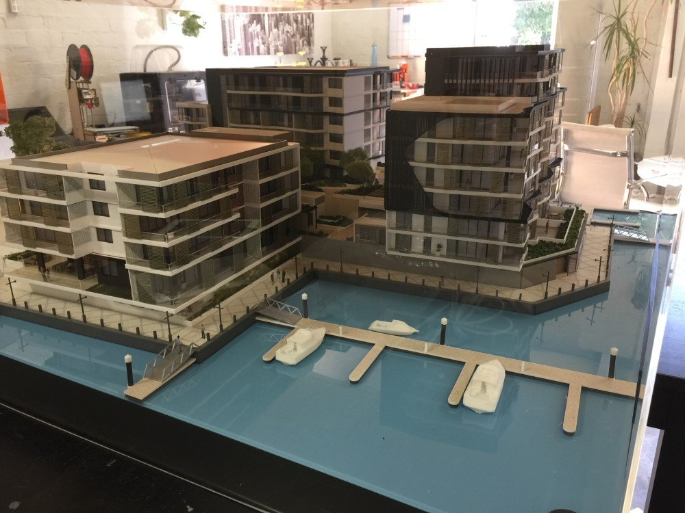Marina East Apartments Scale Model